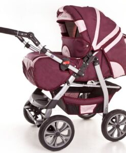 Kinderwagen 2 in 1 Szymek New bordeaux roze product foto