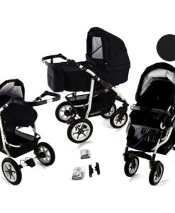 Kinderwagen 3 in 1 Bavario Liv Glesanc Black product foto