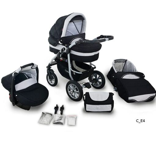 Kinderwagen 3 in 1 Coral White Moon productafbeelding
