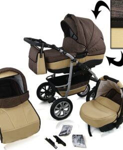 Kinderwagen 3 in 1 CityGO Dark Brown Sand