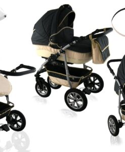Kinderwagen 3 in 1 CityGO black de la crema