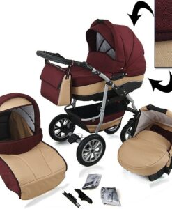 Kinderwagen 3 in 1 CityGO diamond bordeaux sand