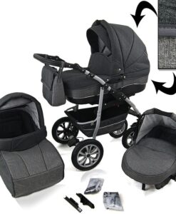 Kinderwagen 3 in 1 CityGO two shades of grey