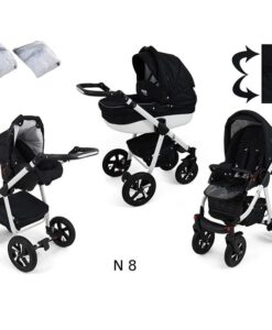 Kinderwagen 3 in 1 Nexxo TwoTone Deep Black productafbeelding