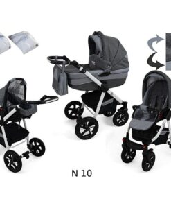 Kinderwagen 3 in 1 Nexxo TwoTone Deep Grey productafbeelding