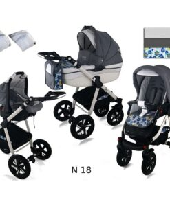 Kinderwagen 3 in 1 Nexxo TwoTone Grey Big Flowa productsafbeelding