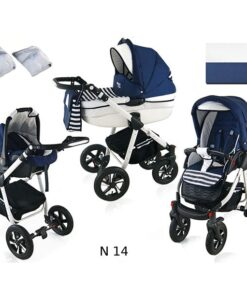 Kinderwagen 3 in 1 Nexxo TwoTone Sailor Blue productafbeelding