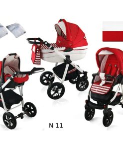 Kinderwagen 3 in 1 Nexxo TwoTone Sailor red productafbeelding