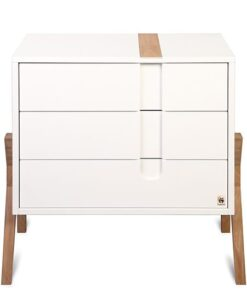 Complete Babykamer Yappyicon deluxe wit beukenhout commode productafbeelding