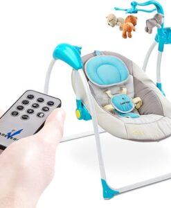 Elektrische babyschommel, schommelstoel Caretero Loop met afstandsbediening