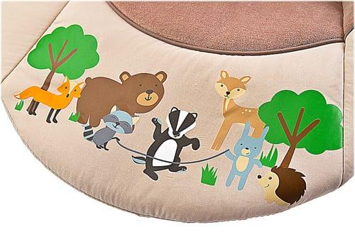 Elektrische babyschommel, schommelstoel Caretero Forest voetenpads