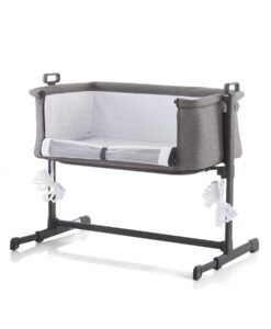 Co-sleeper grijs Grafiet Chiplino open