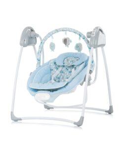 Elektrische babyschommel 2 in 1, schommelstoel Chipolino Paradise blauw