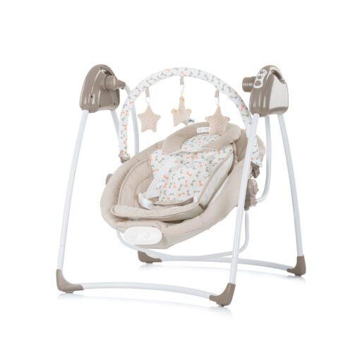 Elektrische babyschommel 2 in 1, schommelstoel Chipolino Paradise beige