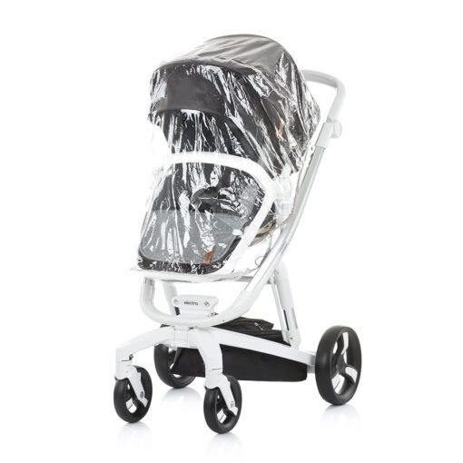 Kinderwagen 3 in 1 Chipolino Electra zwart regenkap buggy