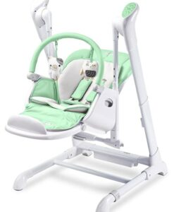 Kinderstoel 2 in 1 Caretero Indigo mint verlaagde swingstand