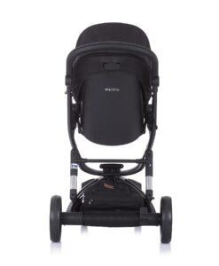 Kinderwagen 3 in 1 Chipolino Electra zwart op zwart, achterkant