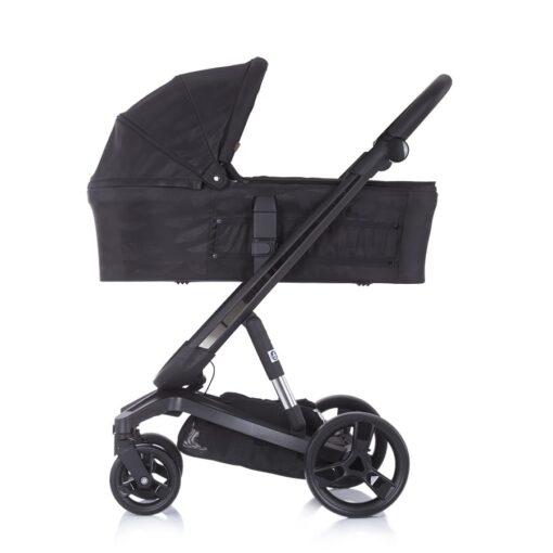 Kinderwagen 3 in 1 Chipolino Electra zwart op zwart, reiswieg zijkant