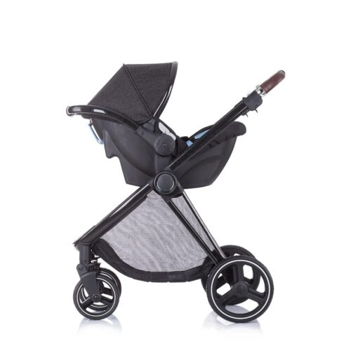 Kinderwagen 3 in 1 Chipolino Lumia zwart night, maxicosi zijkant