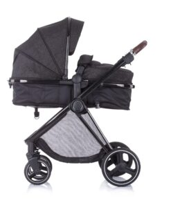 Kinderwagen 3 in 1 Chipolino Lumia zwart night, reiswieg zijkant